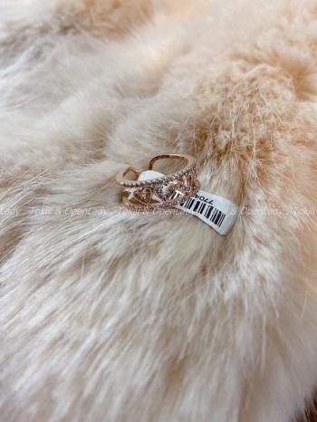 【Z921704】愛心排戒指 可調  純銀鍍玫瑰金