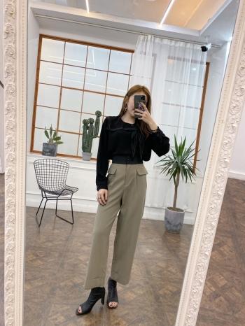 【Z821219】三釦寬鬆西裝褲