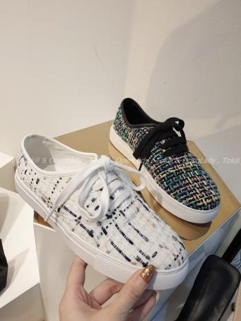 【Z921995】小香呢料休閒鞋