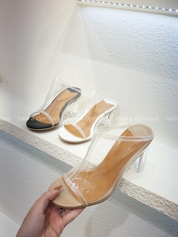 【Z922015】透明魚口拖跟鞋