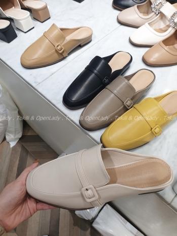 【Z922022】包釦環穆勒拖鞋