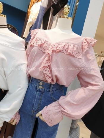 【Z921947】緹花領造型上衣