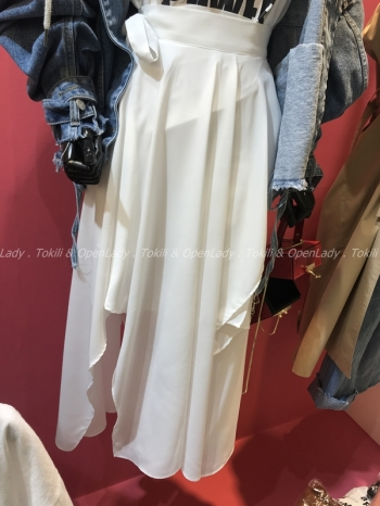 【Z921854】不規則雪紡裙