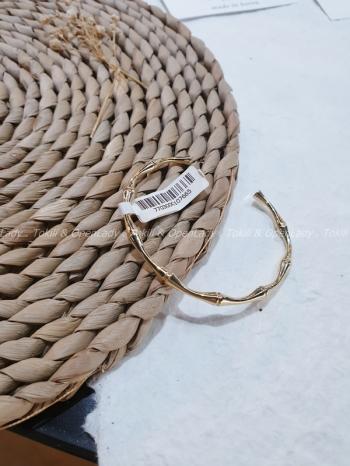 【Z922082】骨感開口式手環(可調/銅鍍金)