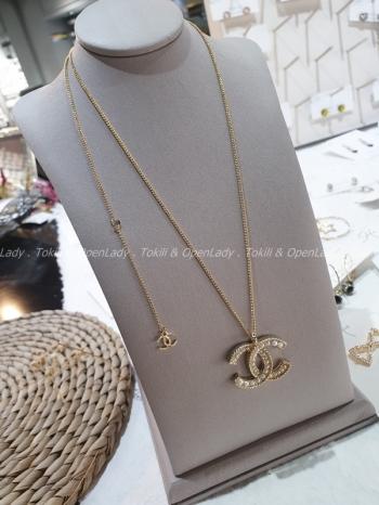 【Z922085】小香珍珠長短項鍊(可調/銅鍍金)