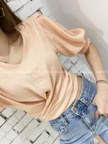 【Z922120】腰綁設計短上衣