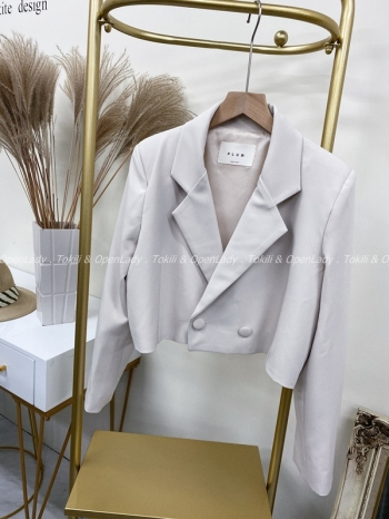 【Z922118】單釦短款西裝外套