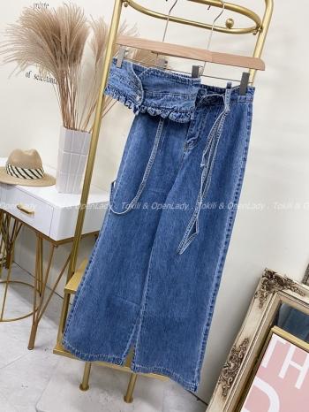 【Z922191】細吊帶牛仔褲