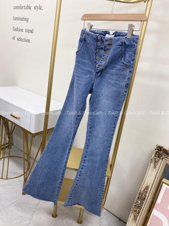 【Z922193】五釦喇叭牛仔褲