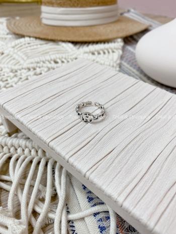 【Z821425】H字母開口戒指