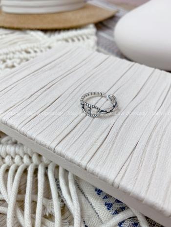 【Z821429】繩紋豬鼻開口戒指