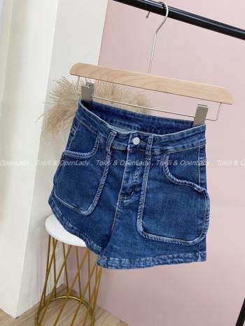【Z821375】立體口袋牛仔短褲