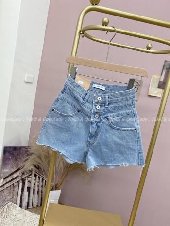 【Z922279】三釦水洗牛仔短褲