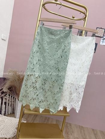 【Z922147】蕾絲造型長裙