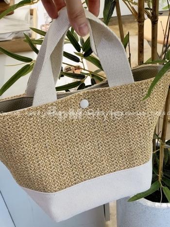 【Z922449】編織棉麻托特小包
