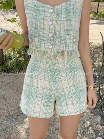 【Z922351】小香風套裝/短褲