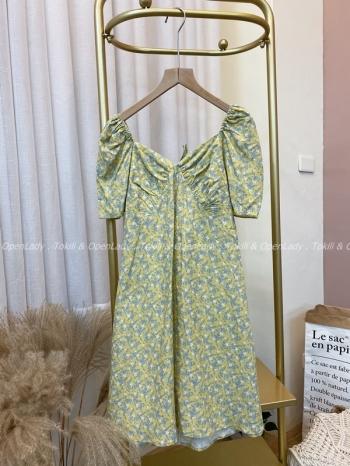 【Z922356】小葉瓣短洋裝裙