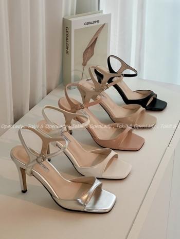 【Z922543】一字高跟涼鞋