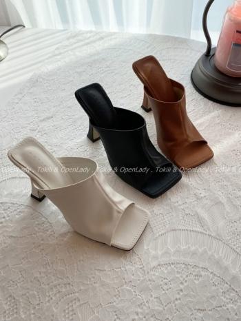 【Z922547】包背高跟拖鞋