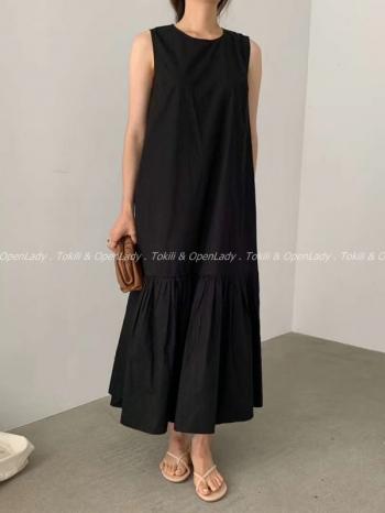 【Z922519】寬鬆背心洋裝裙