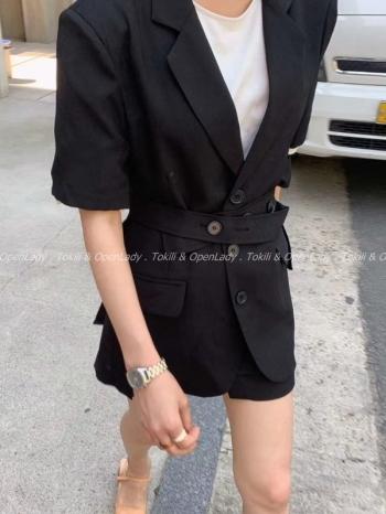 【Z922523】淡粉西裝短外套 套裝/上身
