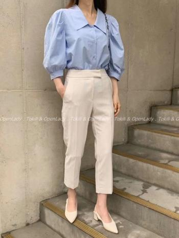 【Z922528】簡約九分西裝褲