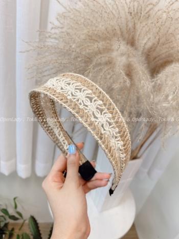 【Z922599】編織雕花髮箍