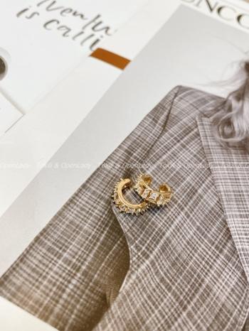 【Z821709】鑽感設計耳骨夾 銅鍍18K金