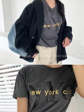 【Z922659】NYC字母短上衣