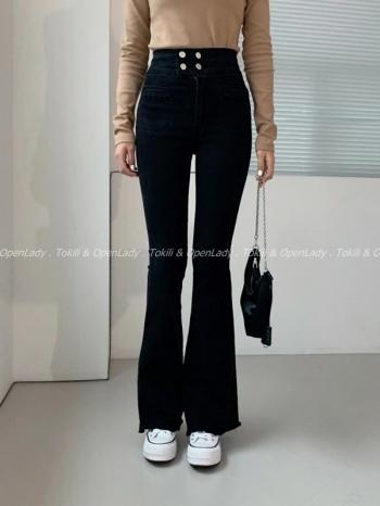 【Z922699】2x2顯瘦喇叭牛仔褲
