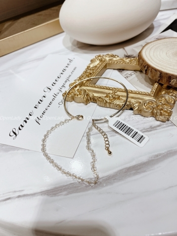 【Z922730】水晶感鏈環造型手環/手鏈