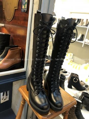 【Z922733】綁帶長筒軍靴 (限定宅配寄送)