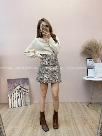 【Z821810】斑馬紋短裙