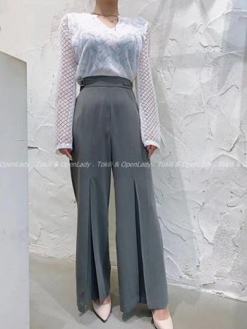 【Z922740】顯腰西裝寬褲