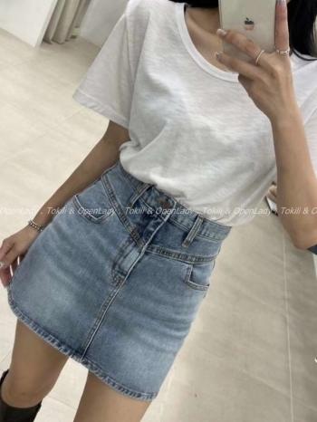 【Z922760】淺刷窄版牛仔短裙