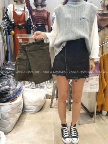 【Z922763】不規則顯瘦褲裙
