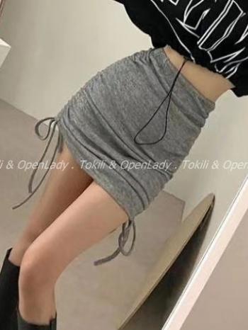 【Z922769】綁繩調式針織裙