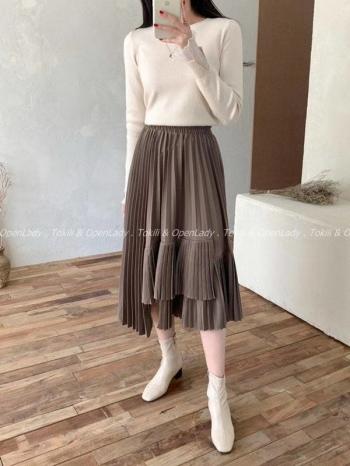 【Z922778】不規則層次百褶裙