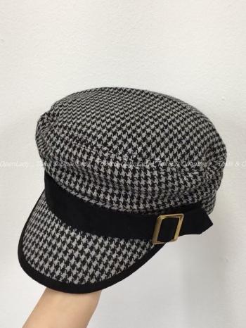【Z922786】千鳥格方釦軍帽