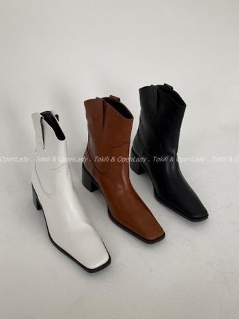 【Z922807】微方低跟西部靴