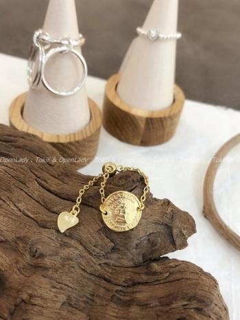 【Z922742】金幣鏈型戒指
