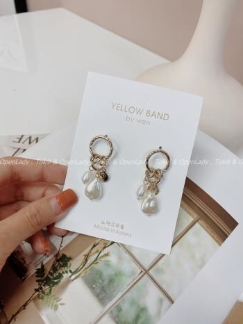 【Z922837】珍珠女王幣耳環 抗敏銀針