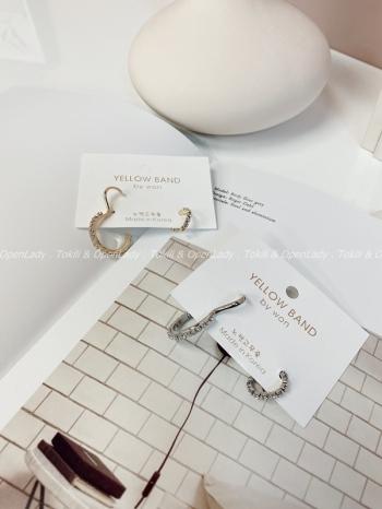 【Z922843】大小環鑽型耳骨夾 抗敏銀針