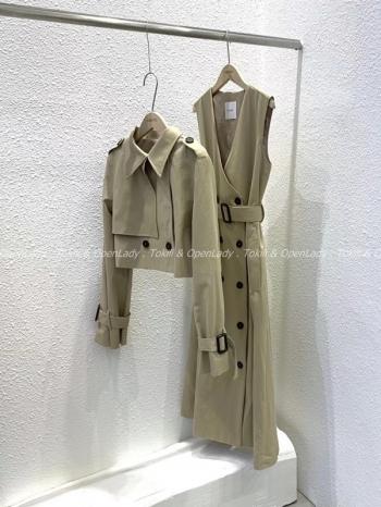 【Z922898】兩件式排釦風衣外套