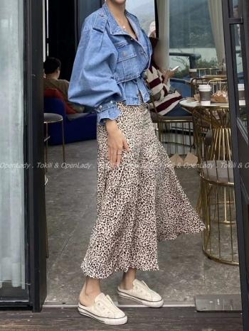 【Z922857】豹紋造型長裙