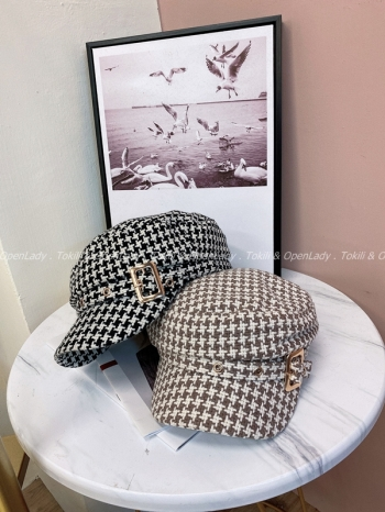 【Z821860】小香感針織紋軍帽