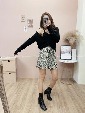 【Z821869】豹紋造型短裙