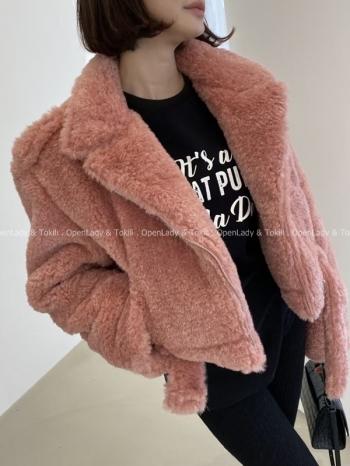 【Z922981】泰迪毛感騎士外套