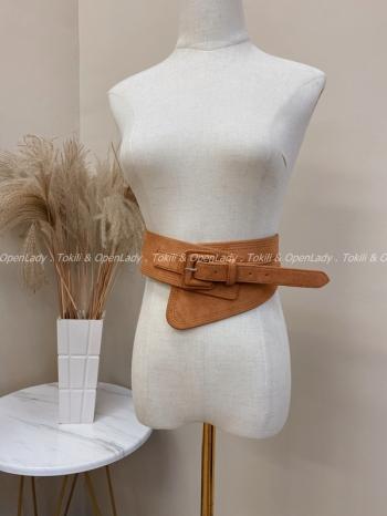 【Z821948】腰封麂皮寬版皮帶