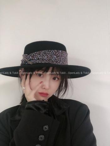 【Z922976】迴紋針毛呢圓頂帽
